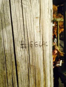 We put our hashtag on a pole in Battery park
